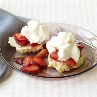 Desserts - Shortcake -  Strawberry Shortcake With Fresh Strawberry Sauce