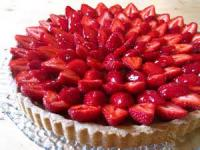 Desserts - Tart -  Frangipane Tart With Strawberries And Raspberries