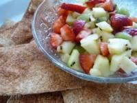 Desserts - Apple-berry Salsa With Cinnamon Chips