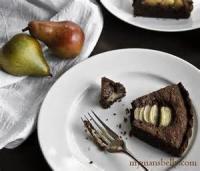 Desserts - Chocolate Hazelnut-pear Tart