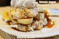 Desserts - Cocoa Banana Cream Shortcake