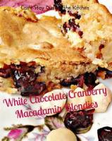 Cookies - Cranberry White Chocolate Blondies