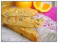 Cookies - Orange Biscotti With Pistachios