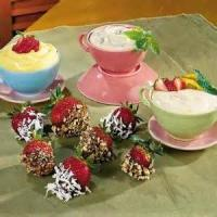 Dips - Fruit -  Strawberries With Brown Sugar-and-sour Cream Dip