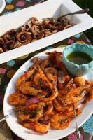 Fishandseafood - Shrimp -  Broiled Shrimp With Greek Salad