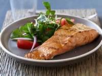 Fishandseafood - Salmon -  Salmon With Brown Sugar And Mustard Glaze