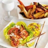 Fishandseafood - Grilled Shrimp With Mango Salsa