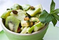 Fruit - Apple -  Fresh Green Salad With Fruit And Nuts