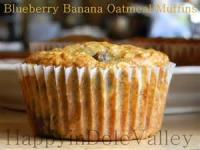 Fruit - Banana Blueberry Oatmeal Muffins