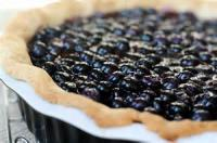 Fruit - Open-faced Fresh Blueberry Pie