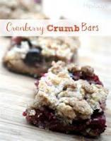 Fruit - Cranberry Crumb Bars