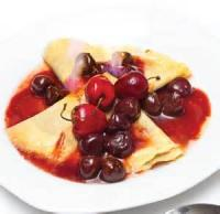 Fruit - Cherries Jubilee Crepes