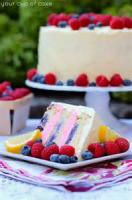 Fruit - Lemon -  Cake With Lemon Filling And Lemon Butter Frosting