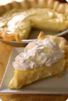 Fruit - Lemon -  Lemon Sour Cream Pie
