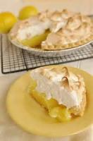 Fruit - Lemon -  Sour Cream Lemon Meringue Pie