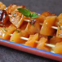 Fruit - Melon -  Skewered Cantaloupe