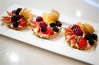 Fruit - Mixed Berries -  Custard Tart With Fresh Berries