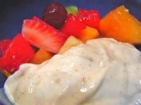 Fruit - Fresh Cantaloupe In Lime Yogurt Cardamon Dressing