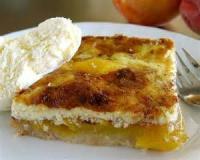 Fruit - Peach -  Peach Custard Kuchen