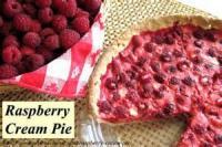 Fruit - Raspberry Cream Pie