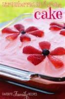 Fruit - Strawberries-and-cream Cake
