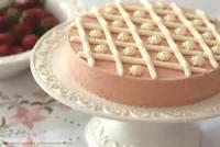 Fruit - Strawberry -  Frozen Strawberry Meringue Torte
