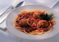 Italian - Pasta Spaghetti With Turkey Pesto Meatballs