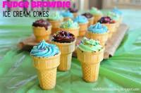 Kids - Brownie Ice Cream Cones