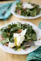 Eggs - Salad -  Spinach, Egg And Bacon Salad
