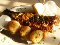 Fishandseafood - Bass -  Seared Sea Bass With Fresh Herbs And Lemon