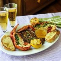 Fishandseafood - Lobster Grilled Lobster With Herb Butter