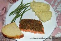 Fishandseafood - Baked Salmon With Roasted Pecan Crust