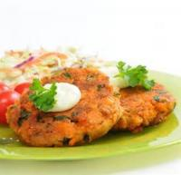 Fishandseafood - Pan-fried Fresh Salmon Cakes