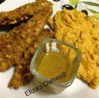Low_fat - Chicken -  Oven Fried Chicken Fingers With Honey-mustard Dipping Sauce