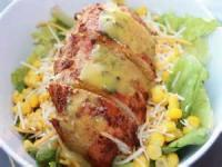 Low_fat - Applebee's Low Fat Blackened Chicken Salad With Fat Free Honey Mustard Dressing