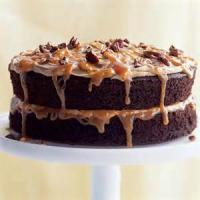 Low_fat - Cake -  Double-caramel Turtle Cake