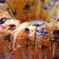Low_fat - Cake -  Blueberry-lemon Cream Cheese Pound Cake