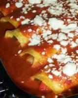 Mexican And Hispanic - Enchiladas -  Cheese 'n Chicken Enchiladas