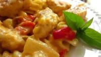 Pasta And Pastasauces - Chicken -  Pasta With Chicken And Pepper-cheese Sauce