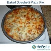 Pasta And Pastasauces - Spaghetti Pizza Pie