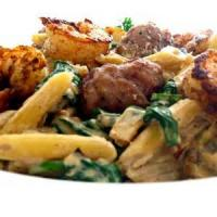 Pasta And Pastasauces - Sausage -  Pasta In Pumpkin-sausage Cream Sauce