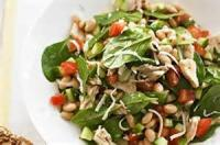 Salads And Dressings - Bean -  White Bean, Tomato And Spinach Salad