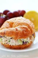 Salads And Dressings - Chicken -  Chicken Salad On Croissant