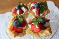 Pastries - Puff Pastry -  Fruit-filled Puffs