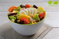 Salads And Dressings - Black And White Bean Salad With Tomatoes And Olives