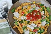Salads And Dressings - Layered Chicken Salad