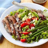 Salads And Dressings - Beef And Pasta Salad With Blue Cheese Dressing