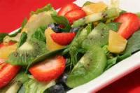Salads And Dressings - Fruit -  Spinach Strawberry Salad And Dressing