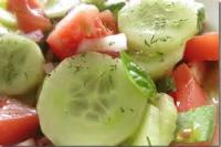 Salads And Dressings - Cucumber-tomato Salad