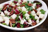 Salads And Dressings - Greens With Pears And Gorgonzola Cheese